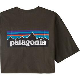 Patagonia P-6 Logo Responsibili Tee Herre logwood brown
